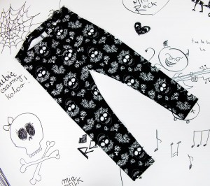 Legginsy Skull Rose Pattern